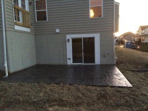 Stamped concrete patio by Security Fence Company of York County, PA