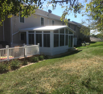 Security Fence custom sunroom job - O'Connor