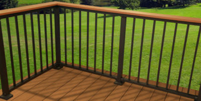 Decking contractor - Security Fence Co - for PVC and component decking and PVC and aluminum railings