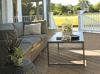 Decking with component deck boards - Security Fence Company - decking contractor